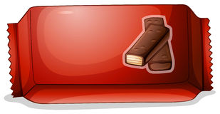 A pack of chocolate. Illustration of a pack of chocolate on a white background Royalty Free Stock Images