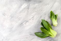 Pack-choy salad mini on an old painted background. Stock Image