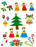 Pack Christmas figures Royalty Free Stock Photography