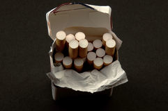 Pack cigarettes Royalty Free Stock Images