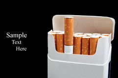 A pack of cigarettes Royalty Free Stock Images