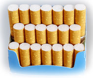 Pack of cigarettes Royalty Free Stock Image