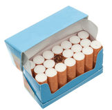 Pack of cigarettes Stock Images