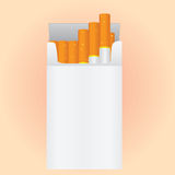 Pack of cigarettes Royalty Free Stock Images