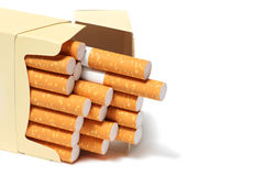 Pack of cigarettes () Royalty Free Stock Images