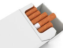 Pack of cigarettes. Isolated on white background Royalty Free Stock Images