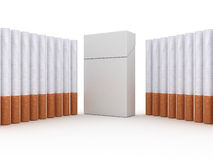 Pack of cigarettes. Isolated on white background Royalty Free Stock Photos