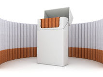 Pack of cigarettes. Isolated on white background Stock Image