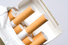 Pack of cigarettes Royalty Free Stock Photos