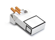 Pack of cigarettes ( clipping path ) Royalty Free Stock Photography