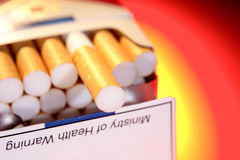 Pack of cigarettes close-up Stock Images