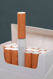 Pack with cigarettes royalty free stock photo