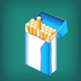 Pack cigarettes Stock Image