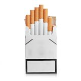 Pack of cigarettes isolated Royalty Free Stock Image