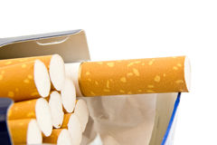 A pack of cigarettes Royalty Free Stock Photo