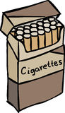 Pack of cigarettes. Opened pack full of cigarettes Royalty Free Stock Photography