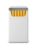 Pack of cigarettes opened on white background Stock Photography