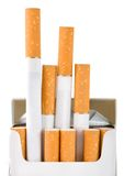 Pack of cigarettes (Path) Royalty Free Stock Photos
