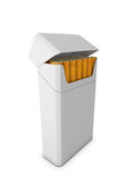 Pack of cigarettes  on white background Stock Photo