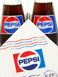Pack of Classic Pepsi glass bottles. Stock Images