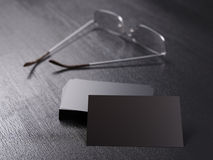 Pack of clear corporate identity business cards Royalty Free Stock Photo