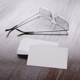 Pack of clear corporate identity business cards Royalty Free Stock Image
