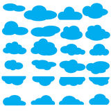 Pack of clouds collection Royalty Free Stock Images