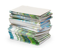 Pack of color documents. The isolated Royalty Free Stock Photo