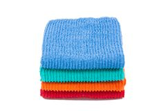Pack of color towels. Isolated Royalty Free Stock Photography
