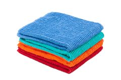 Pack of color towels. Isolated Stock Images