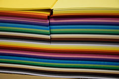 A pack of colored paper for art and quilling. A pack of colored paper stock image