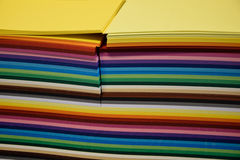 A pack of colored paper for art and quilling. A pack of colored paper royalty free stock photos