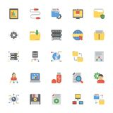Data Management Flat Icons. The pack comprises of elements from data management concept. The flat icons in the set symbolize data organization and management to Royalty Free Stock Photos
