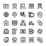 Data Management Line Icons Pack. The pack comprises of elements from data management concept. The line icons in the set symbolize data organization and Stock Image