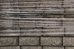 Pack of concrete blocks for pavement Royalty Free Stock Images