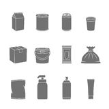 Pack Container Icons Royalty Free Stock Images