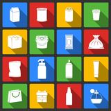 Pack Container Icons Stock Images