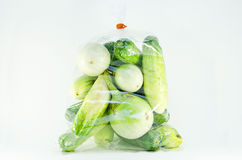 Pack of cucumber and eggplant Royalty Free Stock Photography