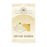 Pack of Custard marrow seeds. Vector image of the Pack of Custard marrow seeds Royalty Free Stock Photo