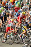 Pack of the cyclists Royalty Free Stock Photos