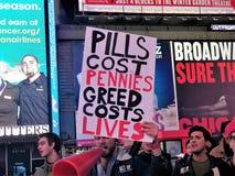 PACK, das wir noch sterben, unterstützt Protest NYC am 29. November 2017 Lizenzfreies Stockbild