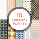 Pack of decorative vector patterns. Ten completely editable and tileable patterns for your design Royalty Free Illustration