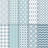 Pack of decorative vector patterns. Stock Images