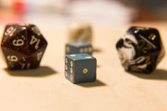 Pack of dices Stock Photos