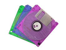 Pack of diskettes Royalty Free Stock Images