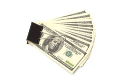 Pack dollars Stock Photography