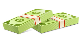 Pack of dollars Stock Photography