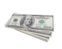 Pack of dollars. Isolated on white background Stock Images