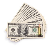 Pack of dollars and bullet Royalty Free Stock Images