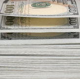 Pack of dollars. Close up royalty free stock photos